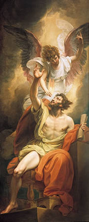 Isaiah's lips anointed with fire by Benjamin West