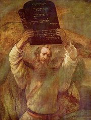 Moses with the Tablets of the Law by Rembrandt Harmensz van Rijn