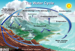 The Water Cycle as depicted by USGS
