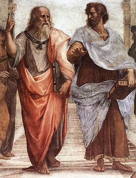 Plato and Aristotle by Sanzio