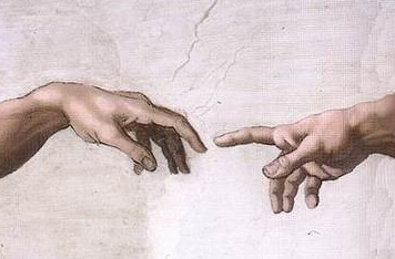 Hands of God and Adam by Michelangelo